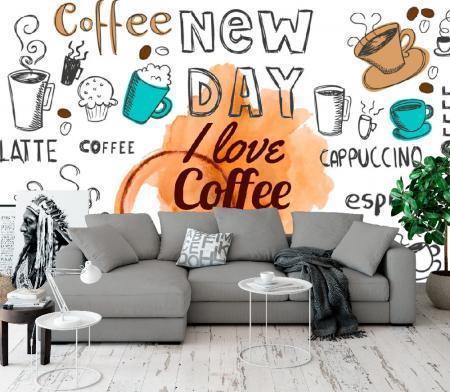 ФОТОТАПЕТ I LOVE COFFEE